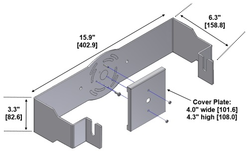 Wall mounting brackets for activeled 8 11 compact series 00 27 0004 0011 aloadofball Image collections
