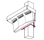 Universal-D Mounting Bracket Assy - Mounts an ActiveLED® Wall Pack Light to a  Square Pole