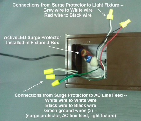 surge protection device spd replaced by <a href for added convenience the spd could just as easily be installed inside the access panel at the base of the pole supporting the street light