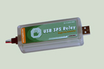 USB Relay with Single Pole Switchover Contacts - direct Type A USB plug-in